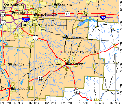 Fairfield County, OH map