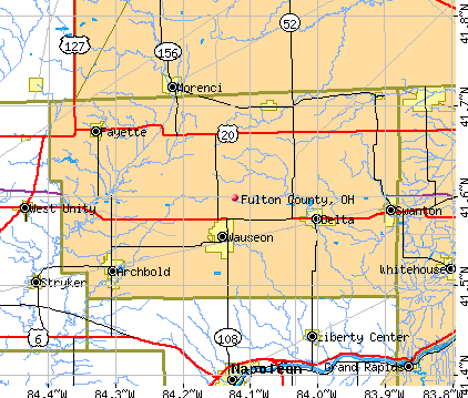 Fulton County, OH map