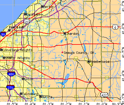 Geauga County, OH map