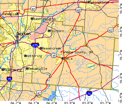 Greene County, OH map