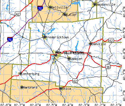 Knox County, OH map