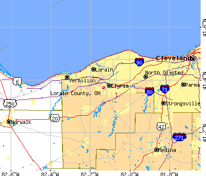 Lorain County, OH map