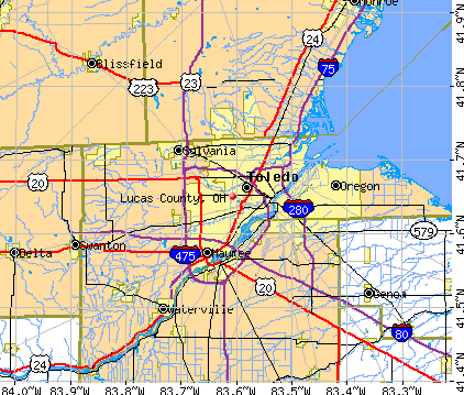 Lucas Ohio Map.Lucas County Ohio Detailed Profile Houses Real Estate Cost Of