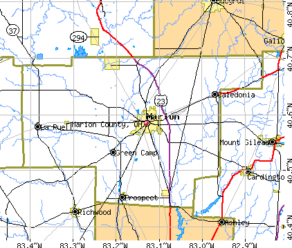 Marion County, OH map