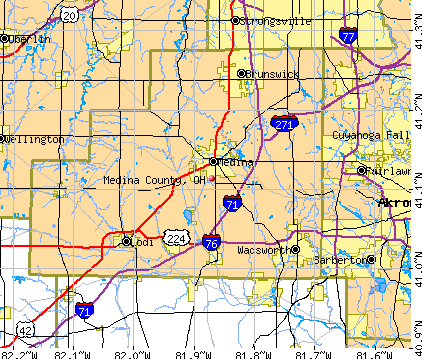 Medina County, OH map