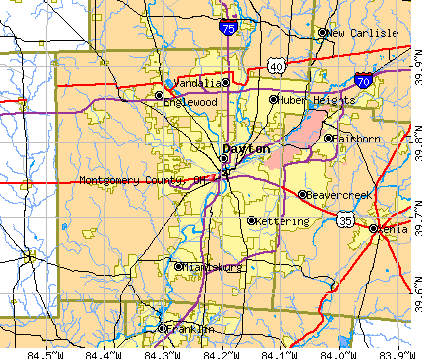 Montgomery County, OH map