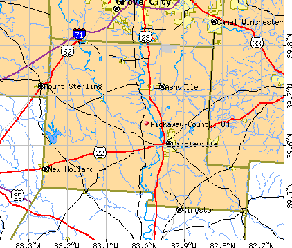 Pickaway County, OH map