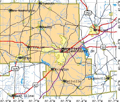 Richland County, OH map