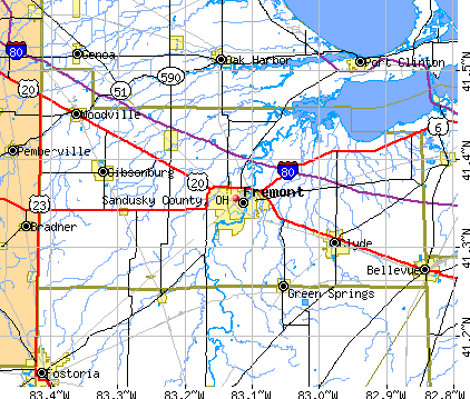 Sandusky County, OH map