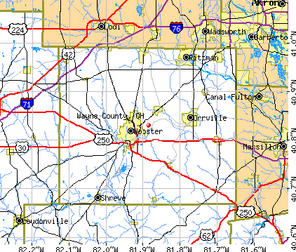 Wayne County, OH map
