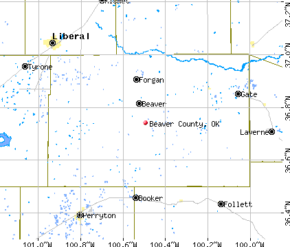 Beaver County, OK map