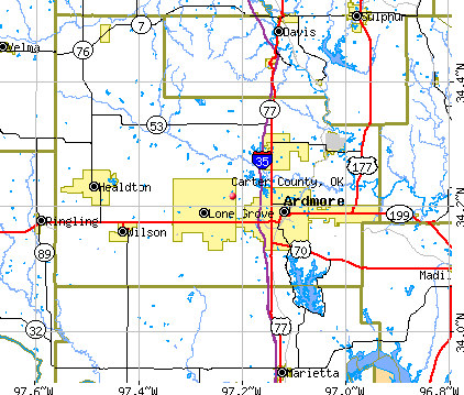 Carter County, OK map