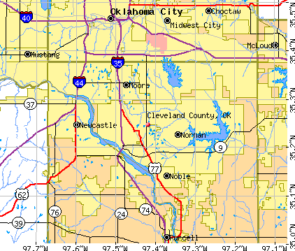 Cleveland County, OK map