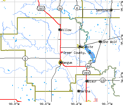 Greer County, OK map
