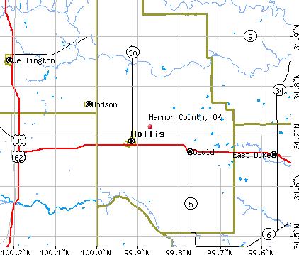 Harmon County, OK map