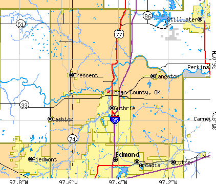 Logan County, OK map
