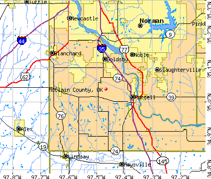 McClain County, OK map