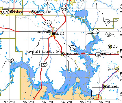 Marshall County, OK map