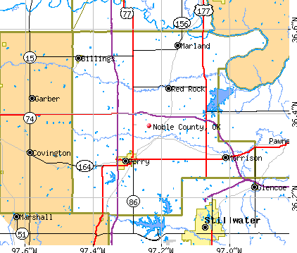 Noble County, OK map
