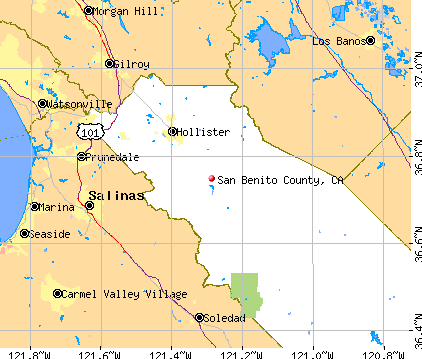 San Benito County, CA map