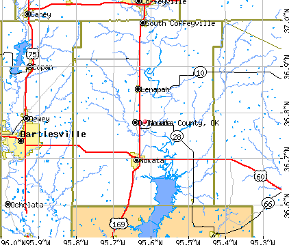 Nowata County, OK map