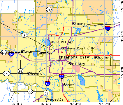 Oklahoma County, OK map