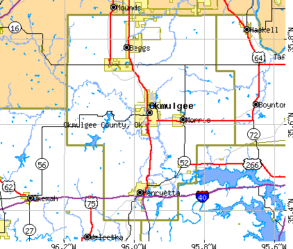 Okmulgee County, OK map