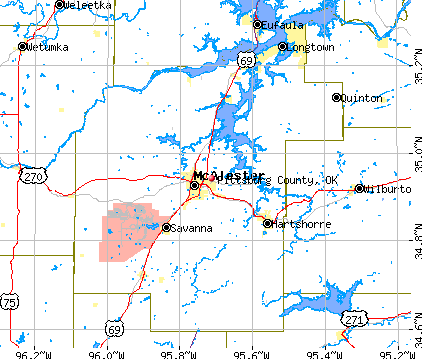 Pittsburg County, OK map
