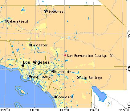 San Bernardino County, CA map