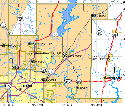 Rogers County, OK map