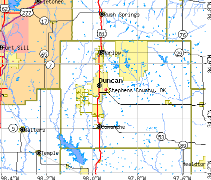 Stephens County, OK map