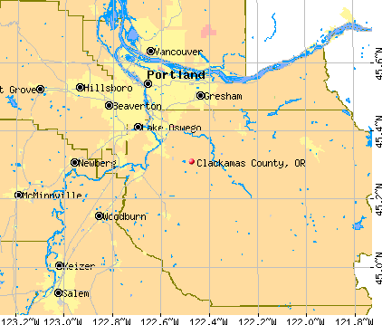 Clackamas County, OR map