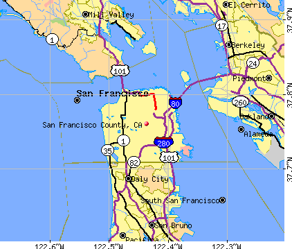 San Francisco County, CA map