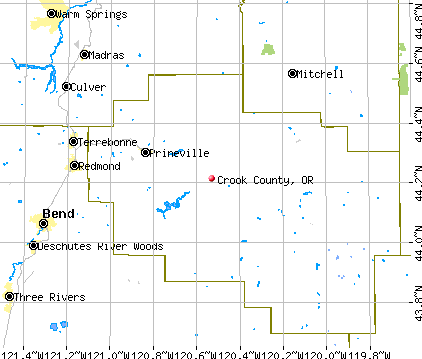 Crook County, OR map