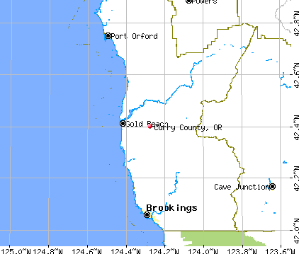 Curry County, OR map