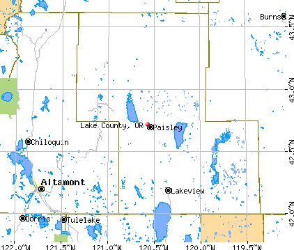 Lake County, OR map