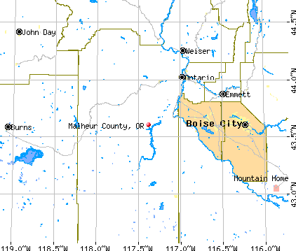 Malheur County, OR map