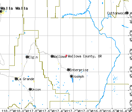 Wallowa County, OR map