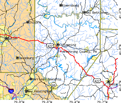Armstrong County, PA map