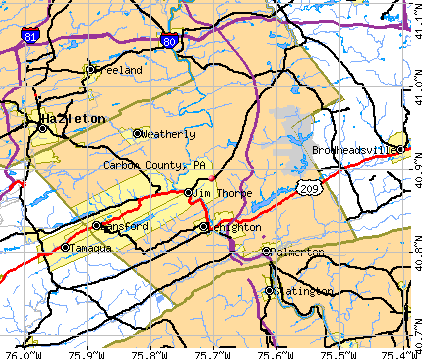 Carbon County, PA map