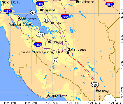 Santa Clara County, CA map