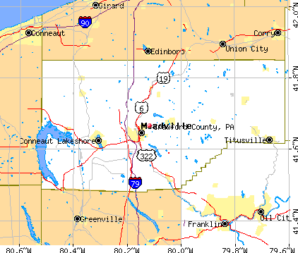 Crawford County, PA map