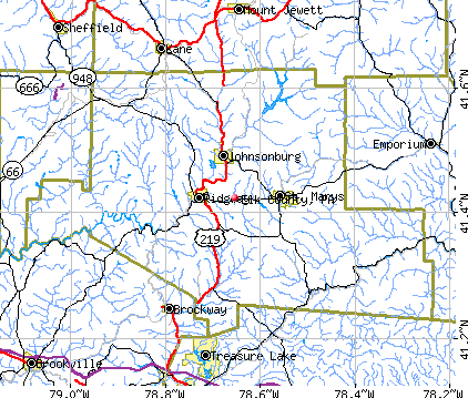Elk County, PA map