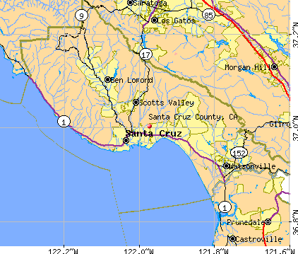 Santa Cruz County, CA map