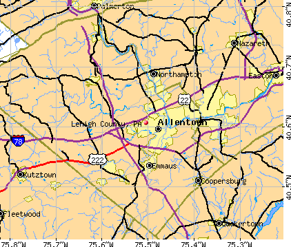 Lehigh County, PA map
