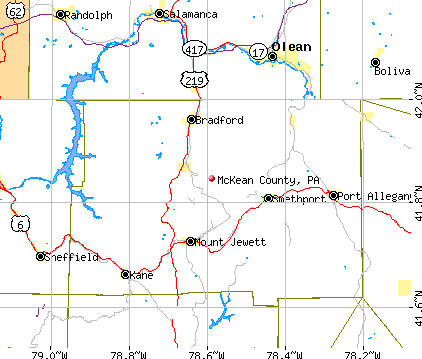 McKean County, PA map