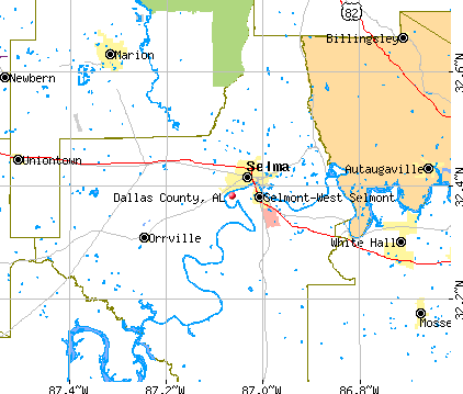 Dallas County, AL map