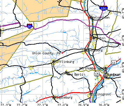 Union County, PA map