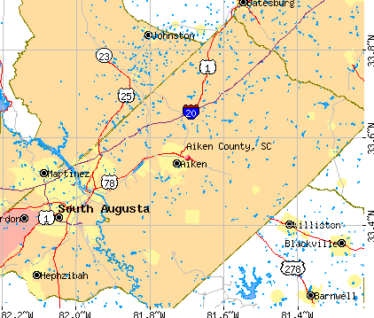 Aiken County, SC map