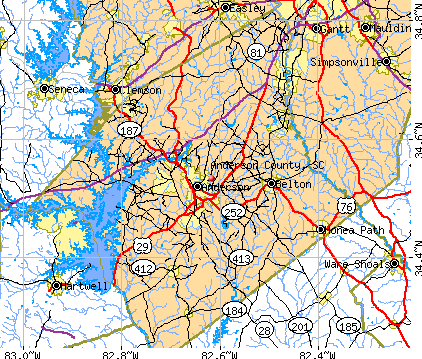 Anderson County, SC map
